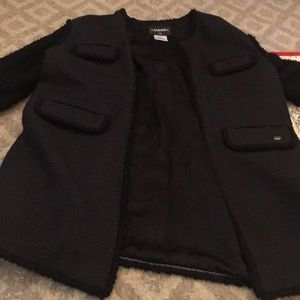 Chanel sweater coat